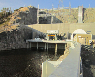 The construction of La Romaine-1 hydroelectric plant is almost finished!